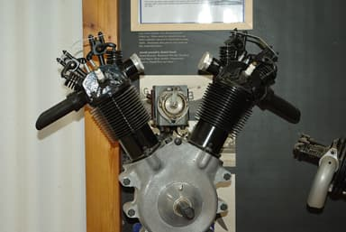 Shuttleworth Collection's Tomtit Engine in Vertical Position from the Propeller Side