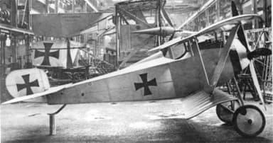 Siemens-Schuckert D.I (Note Downward Flair of Wings)