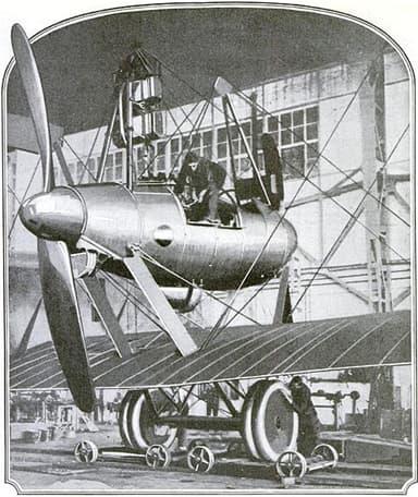 Single Engine Nacelle on Zeppelin-Staaken R.XVI