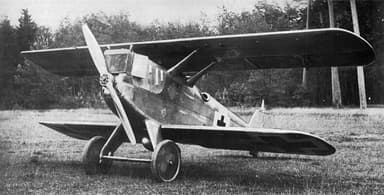 Single Seat Zeppelin D.1 Cantilever Wing Biplane Fighter