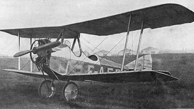 Single-Undercarriage Prototype Potez VIII Showing Vertical Inline Engine