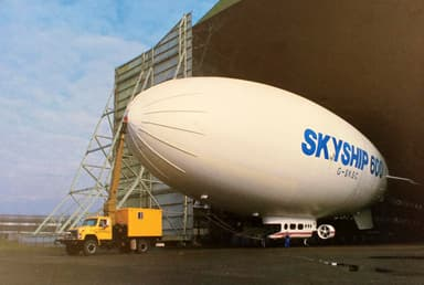 Skyship 600 Emerging from Cardington Shed 1
