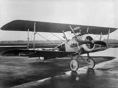 Sopwith Camel with Hump Removed for Action