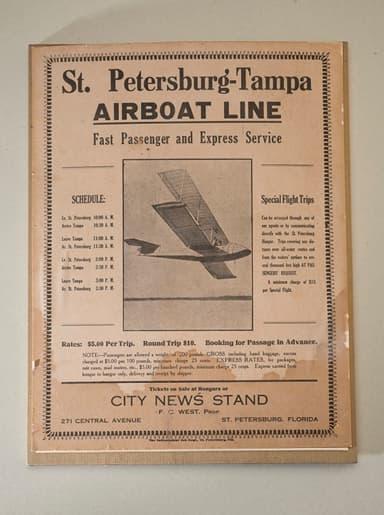 St. Petersburg-Tampa Airboat Line Brochure