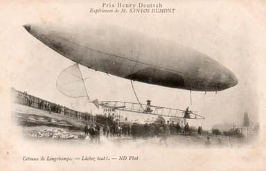 The 'Slim, Cigar-Shaped Santos-Dumont No.6 Airship