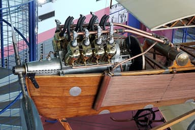 The Antoinette V8 Aircraft Engine on Display at Musee du Bourget