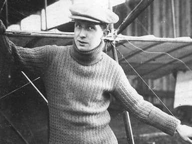 The Aviator and the Bleriot Airplane
