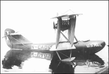 The Boeing B-1 Prototype in 1919 Delivering Mail