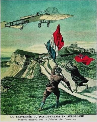The Crossing of the English Channel in an Airplane