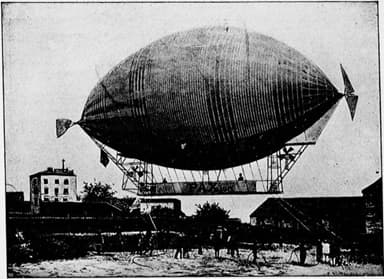 The Dirigible 'Pax' (Crashed in 1902)