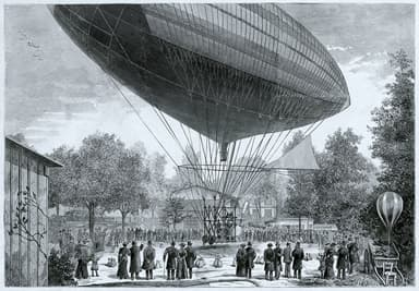 The Electrically Powered Dirigible at Auteuil-Neuilly-Passy in Paris