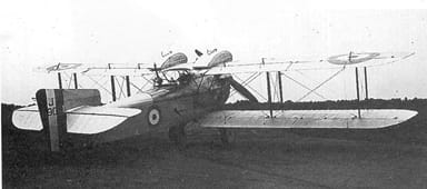 The Fairey Fawn Showing Fuel Tanks Above Top Wing