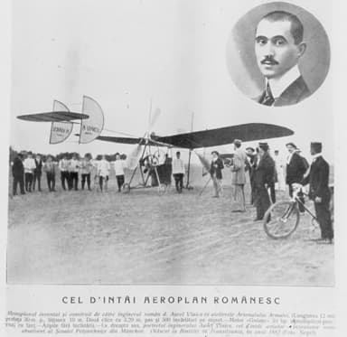 The First Flight of the A Vlaicu I