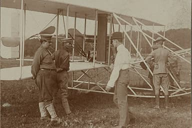 The First U.S. Military Airplane Arrives at Fort Myer Parade Grounds