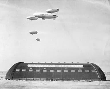 The Goodyear Company Hangar in Akron, Ohio (Circa 1940-1949)