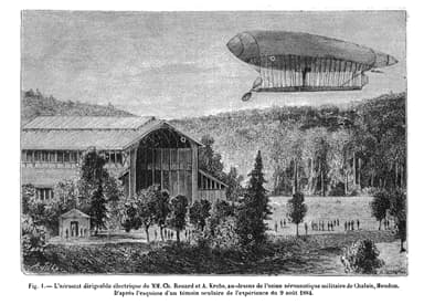 The La France Airship Made the First Directed Flight on August 9, 1884