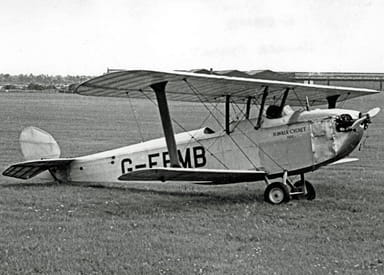 The Surviving Cygnet at Coventry Airport in 1954