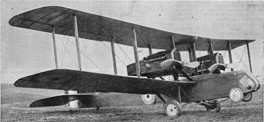 The Twin Engine Airco DH.10 Amiens Strategic Bomber (1918)