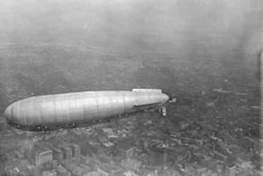 The U.S. Army Airship Roma over Norfolk, Virginia in November 1921