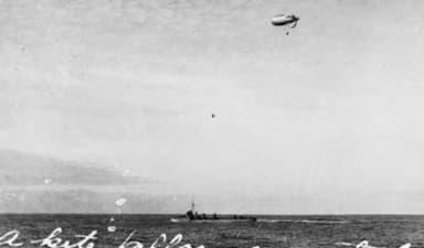 The USS Bell Under Way off Queenstown, Ireland (1918)