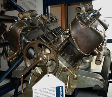 The Wolseley 60 hp or Type C Aero Engine at Science Museum, London