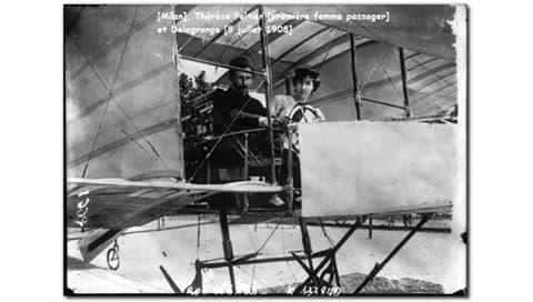 Therese and Leon in Delagrange 1 on July 8, 1908