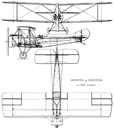 Three View Drawing Showing Strut Configurations