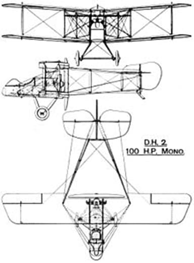 Three View Drawing of Airco D.H.2