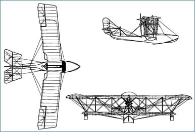 Three-View Drawing of Grigorovich M5