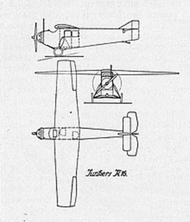 Three View Drawing of Junkers K 16