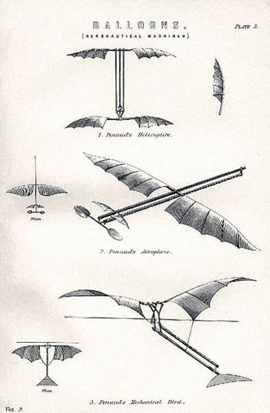 'Planophore, 1873 Ornithopter