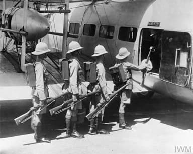 Troops Emplaning on a Vickers Victoria