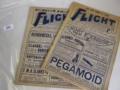 Two Early Editions of ' Flight ' Magazine (1910)