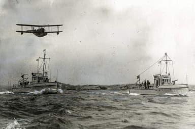 USCG Loening OL-5L Seaplane and Two 75-foot Patrol Boats