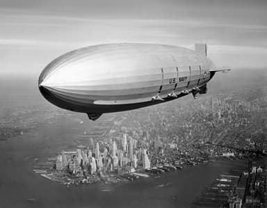 USS Navy Macon over New York City in 1933