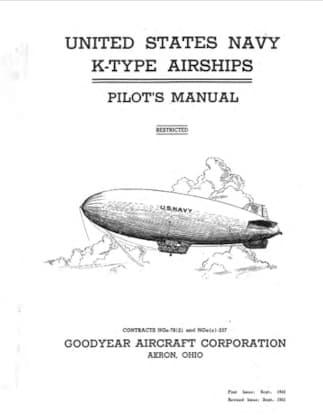 United States Navy Goodyear K-Type Airship Manual