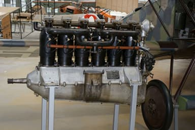 Unrestored 160 hp Mercedes D.III with SOHC Valve Train Atop the Cylinders