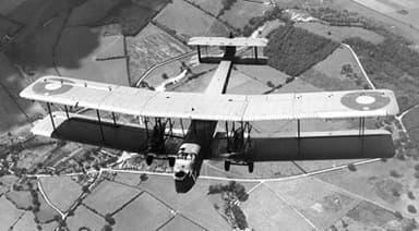 Vickers Virginia in Flight (Circa 1922)