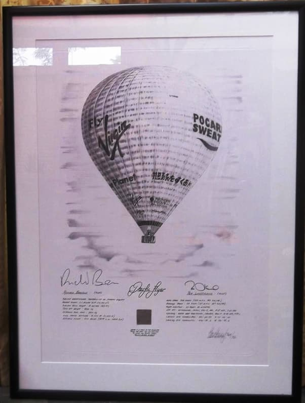 Virgin Pacific Flyer Hot Air Balloon Signed Richard Branson & Per Lindstrand