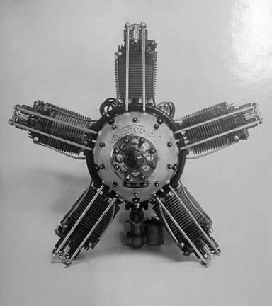 Walter Five-Cylinder, Air-Cooled, Radial Engine