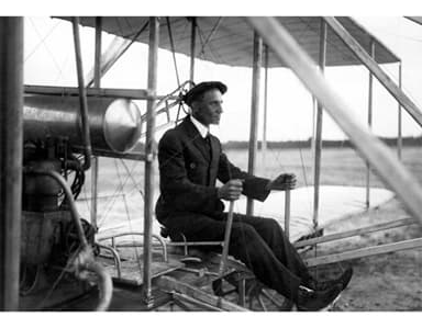 Wilbur Wright at Camp d'Avours the Following Day (1 January 1909)