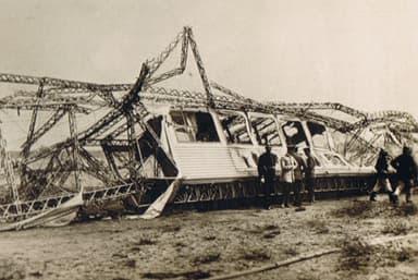 Wreckage of passenger car of Schwaben after the fire