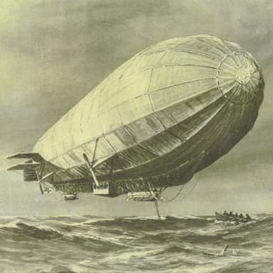 Zeppelin L3, Perhaps With Crew Returning from an Interception