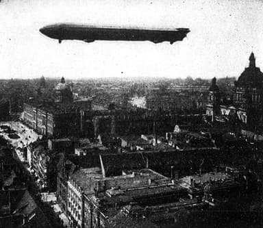 Zeppelin LZ3 over Berlin in 1909