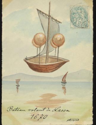 Francesco Lana de Terzi's design for a flying boat, 1670