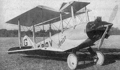 Avro 581 Avian G-EBOV Prototype with Genet Engine Les Ailes