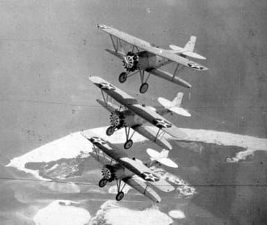 Boeing F2Bs in Flight Circa in 1929