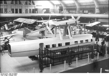 Farman F.180 Fuselage and Engine Mockup at the Berlin Air Show in 1928