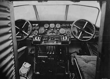 Junkers G.31 Cockpit Photo NACA Aircraft Circular 54