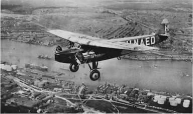 KLM Fokker Airliner F.VIII Airliner in Flight